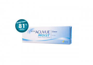 Billiga 1-Day Acuvue Moist endagslinser 90 pack